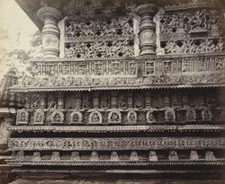 Views in Mysore. Bailoor Temple [Chennakeshava Temple, Belur]. The east façade